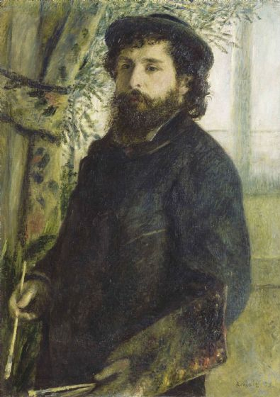 Renoir, Pierre Auguste: Portrait of Claude Monet. Fine Art Print/Poster. Sizes: A4/A3/A2/A1 (004285)